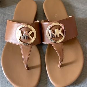 Michael Kors Shoes - Michael Kors brown leather sandals size 7